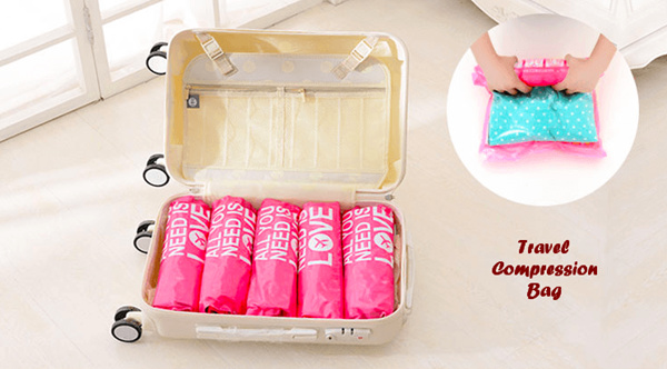 6 in 1 Travel ROLL Compression Bag Deals for only Rp99.000 instead of Rp99.000