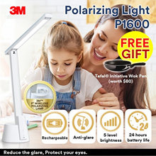 [Official E-Store] 3M™ Polarizing Wireless Task Light LED P1600 - White -Study Lamp / Anti-Flicker