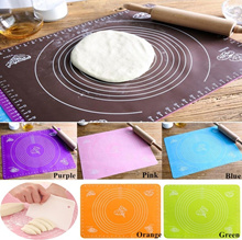 6 Colors Kitchen Room Cooking Tool Silicone Rolling Cut Mat Tool Fondant Clay Pastry Icing Dough Cak