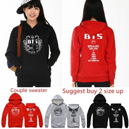 Women  Fleece Hooded Winter Hoodie Sweatshirt Clothing Hoody Sweatshirts BTS Cotton Black Grey Sweat
