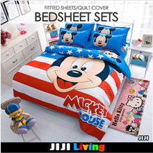 ★2018 CARTOON 4IN1 BEDSHEETS PREMIUM ★QUILT COVER ★PILLOW CASE Bedsheet 4 set Bed Sheet and Duver