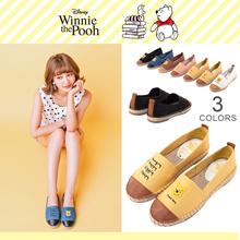 Gracegift-Disney Winnie the Pooh mismatches espadrilles/Women/Ladies/Girls Shoes/Taiwan Fashion