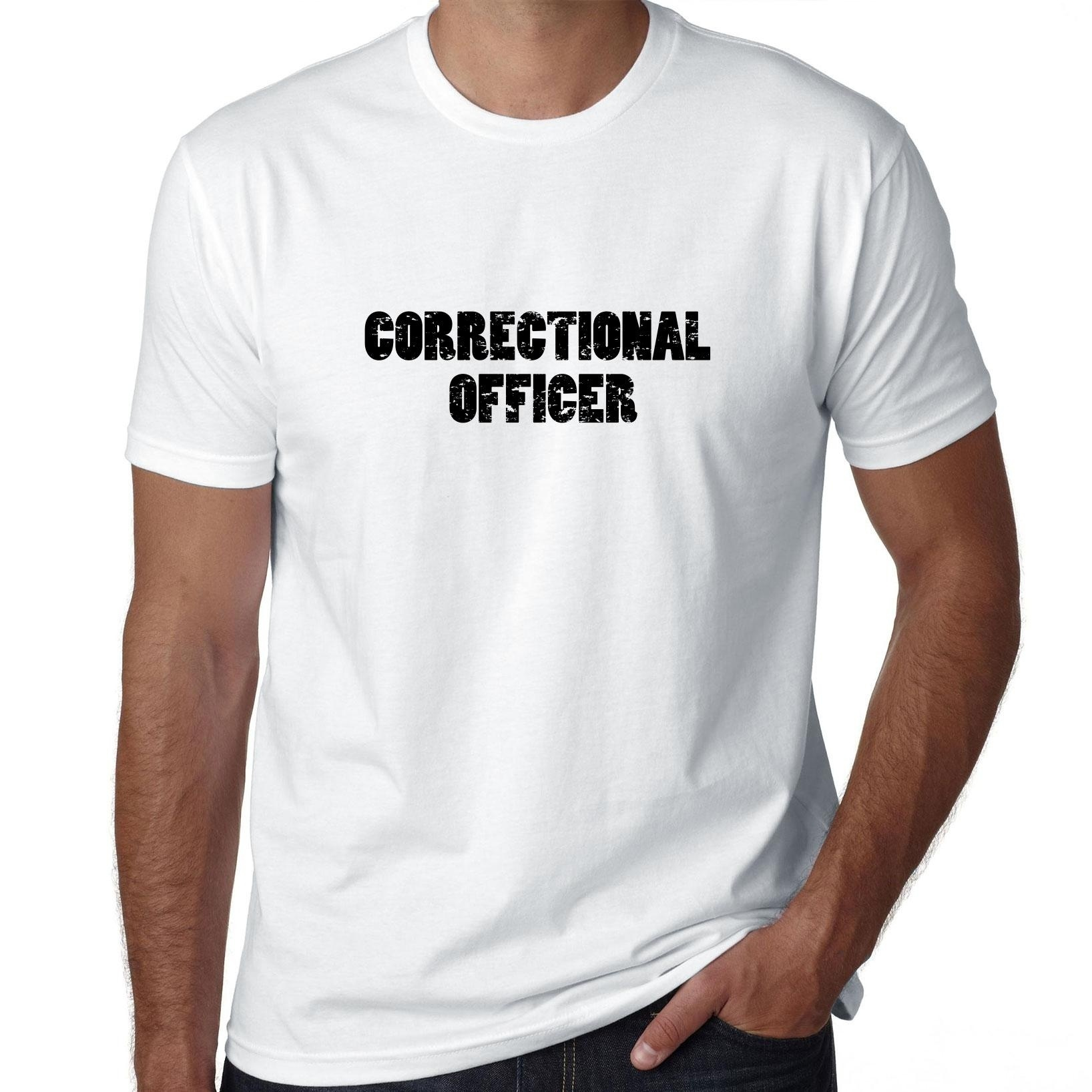f30f1a75 Qoo10 - Correctional Officer - Law Enforcement Support Men s T-Shirt ...