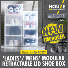 NEW MODEL ♦ BUY 8 FREE 4 ♦ BACK IN STOCK ♦ Front Opening ♦ Sliding Lid Shoe Box ♦ Stackable Design