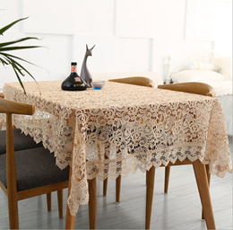 New light brown coffee crocheted tea table cloth/piano cover/sofa cover crochet knitting embroidery