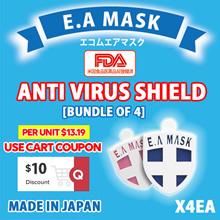 Per Unit $13.19[Bundle of 4] Ecom Air EA Mask Anti virus Shield Badge type/FDA registered/Made in JP