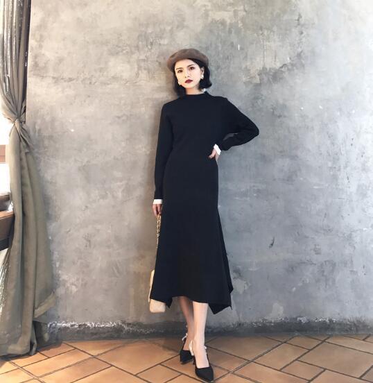 [55555SHOP]秋冬 新作 ニットワンピ/ クニットワンピース