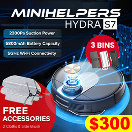 【INTRODUCTORY OFFER❗】★2020 HYDRA S7 Robot Vacuum //5G connectivity+APP+Vacuum+Mop // Local Warranty