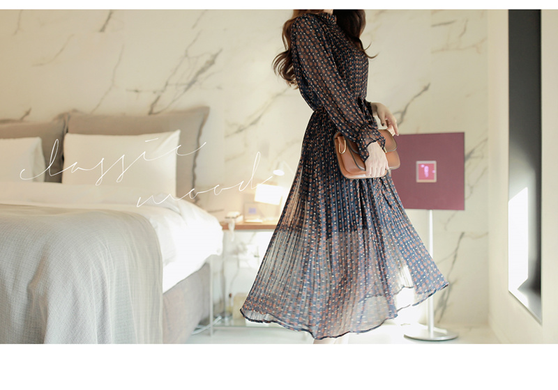 ドレス ワンピース フリーサイズ ジャバラ ロング 柄 ララランドワンピース