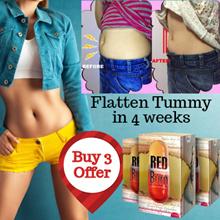 💖Bundle of 3 💖 RED Burn Powerful Fat Fighter 👍 Flatten Tummy 👍 Regain perfect waist