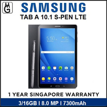 Samsung Galaxy Tab A 10.1 S-PEN T580/P585 LTE /WIFI 7300Mah BATTERY / 1 Year Warranty by SAMSUNG