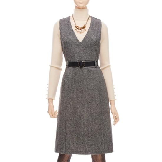フォーカスベルトゥセッ一チェイル毛織ワンピースVFGW1OP4360 面ワンピース/ 韓国ファッション