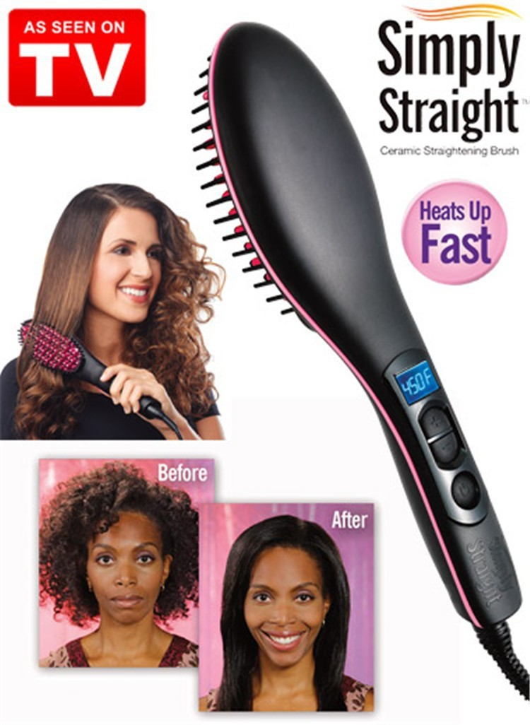 Show All Item Images Close Actual Size Prev Next Tv Simply Straight Artifact Women Hair Straightener Comb
