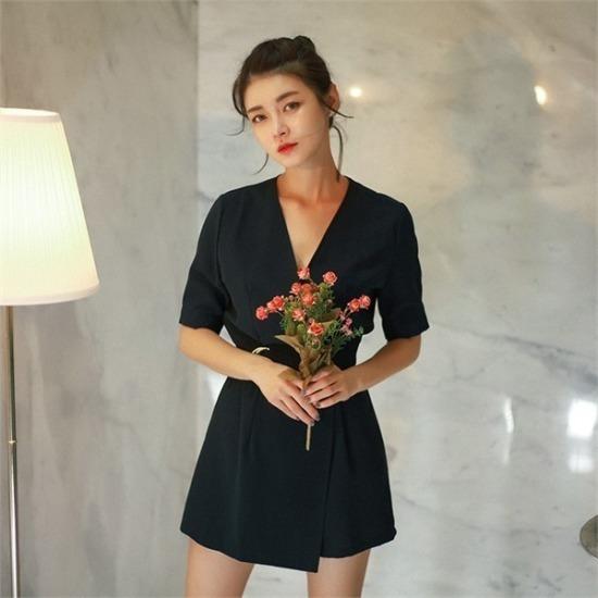ベリープリティー行き来するようにベリプリティー・ソナティネラップつなぎ 塔/袖なしのワンピース/ 韓国ファッション