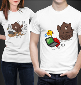 T-shirt LINE Brown Character ★ High Quality Guaranteed!!