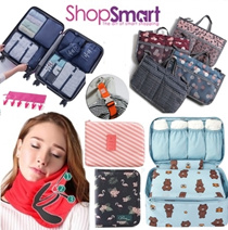 Travel Organizer Bag In Bag [ShopSmart] Travel Essentials Organiser Accessories Luggage|Pillow