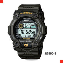 *APPLY SHOP COUPON* G-SHOCK GREEN RESIN DIGITAL WATCH G7900-3D. Free Shipping