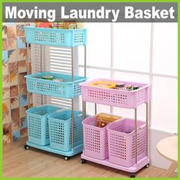 ★ Large Capacity Moving Laundry Basket ★ Clothing Storage For Washing Or Keep Kitchen Food Snacks
