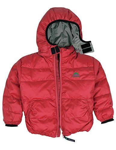Molehill Kids Down Hooded Jacket 700 Fill Red 3T