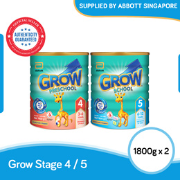[Bundle of 2] Abbott Grow Growing Up Milk for Kids Stage 4/5 1.8kg