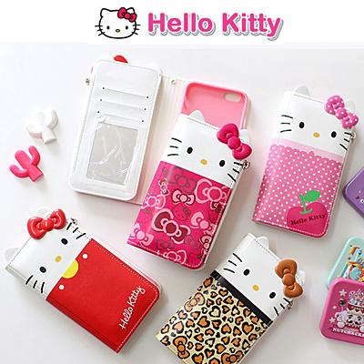 3b2172d74 Qoo10 - ☆Authentic☆Hello Kitty Dress Wallet Case☆Galaxy S8/Plus ...