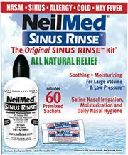 NeilMed Sinus Rinse Nasal Wash Starter Kit + 60 Premixed Sachets