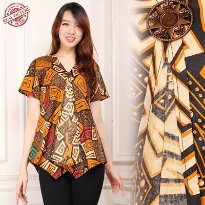tops blouse kika batik shirt woman