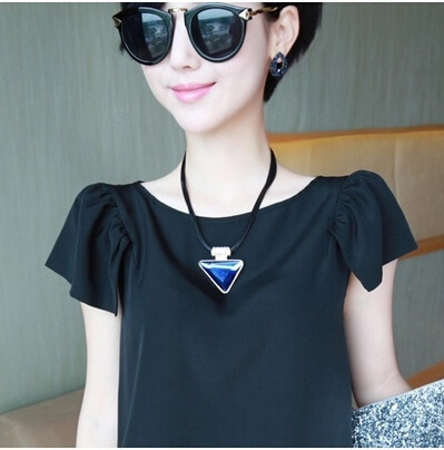 Crystal item short sweater chain fashion Korean necklace