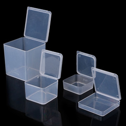 Small Square Clear Plastic Jewelry Storage Boxes Beads Crafts Case Containers AUG16