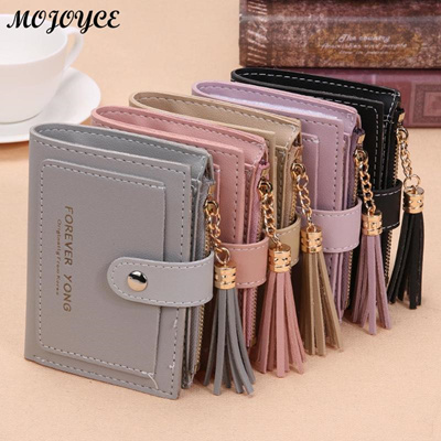 outlet Folded Women Short Wallet Tassels Mini Handbag Hasp Small Wallet for  Girl Fashion Female Zipp 841bb72c6e