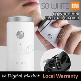XIAOMI SO WHITE Men Mini Electric Shaver Deep Clean Washable Rechargeable Dry And Wet Double Shaving