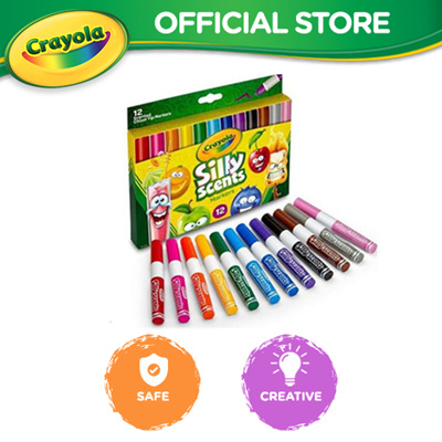 Nicedeal One Set Washable Silky Crayons Rotating Markers Sticks ...