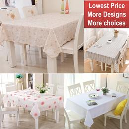 Vinyl Polyester Fiber PVC Table Cloth*Pastoral Oil Proof tablecloths* Waterproof Plastic table cloth