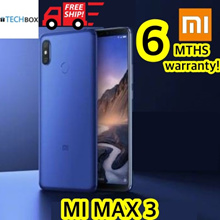 [6 MTHS FREE!] Xiaomi Mi Max 3  | SG Seller |GLOBAL ROM w no top-up! | Latest Model - 64 / 128GB