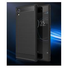 SONY Xperia XA1 Plus case XA1 Plus case protective case carbon fiber stretch silk anti fall case