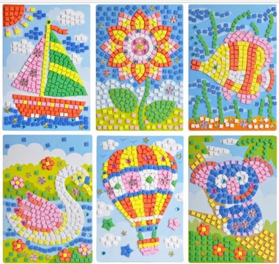 Buy Mosaic Art Stickers Art 3d Art Art And Craft Foam Art Party