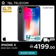 [Rm4199.00 after applied Qoo10 Coupon] Iphone X (64GB) / (256GB) Ready stock