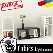 Cubics DIY Furniture Wall shelf sicker furniture wallpaper TV console shoe rack bookcase book shelf