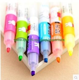 5/set   0191 lovely cartoon Miffy fruity fluorescent pen large capacity marking pen