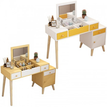 Dressing Table Small Bedroom Dressing Table Multi-function Retractable Solid Wood Legs Makeup Table