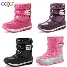 Girl winter boots/ Kids  Winter Snow Boots/ Non-slip Fashion Fur Thick Shoes/high quality boots