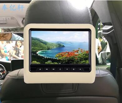 Qoo Car LCD Headrest Monitor Inch DVD HD Plug Mp Rear - Car show headrest monitors