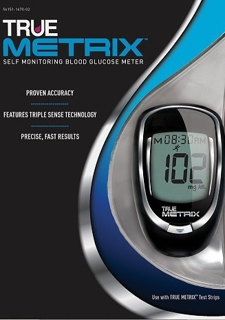 (trividia health) True Metrix Blood Glucose Meter Kit with 10 Pack-