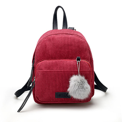 ac6f32e1af 2018 Autumn Fashion Backpack Women Mini Backpacks For Teenage Girls Winter  Solid Color School Bags S