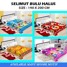 ( New Motif Available ) CHELSEA SELIMUT BULU HALUS uk: 140x200cm