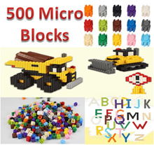 ✯Interlocking Micro Blocks✯500 Pieces✯15 Colors✯Nano Blocks✯LOZ✯Technics✯Building Blocks✯