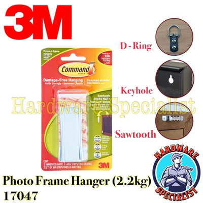 50X D RING PAINTING Picture Frame Wall Mirror Hanger Hanging Hooks Source · Qoo10 Command WireBacked Picture Hanging Hooks Value Pack White Large 6 Hangers ...