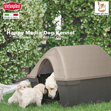 Stefanplast Happy Media Dog Kennel I Made In Italy I Doghouse Made Of Durable Plastic I Easy Clean