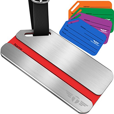 ▶$1 Shop Coupon◀ One P R Ivacy Lage Tags Stainless Steel Metal ID Bag Tag  With Lifetime Never Lost