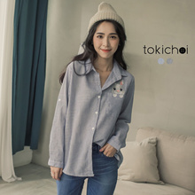 TOKICHOI - Rabbit Embroidery Shirt-181618-Winter